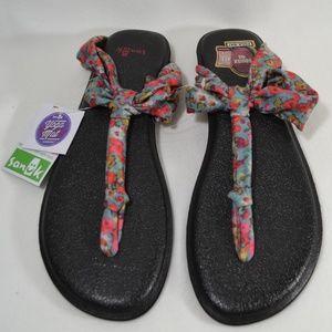 7bbe66b9f Sanuk Shoes - SANUK Yoga Mat Sling Ella Print Blue Sandals